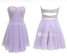 Purple Sequin Short Homecoming Dress Prom Dress by LovePromDress, $138.99