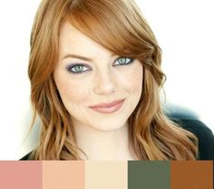 Emma Stone with a Warm color palette  #warm color family #warm makeup #Emma Stone  http://www.style-yourself-confident.com/warm-makeup.html