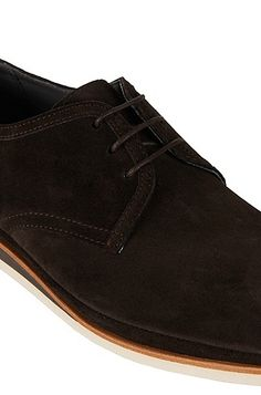 Leather lace-up shoes with layered sole: 'Ecleder'