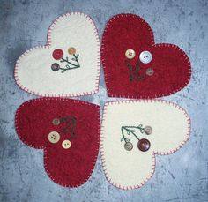 Cute as a Button Candle Mat by JustJills on Etsy, $18.00