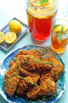 Sweet Tea Fried Chicken ~ http://www.grandbaby-cakes.com