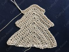 Crochet Christmas Tree Ornament Free Pattern Tutorial