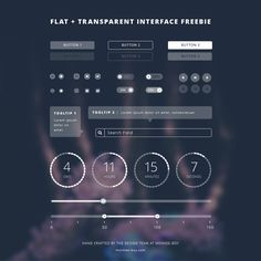 Free Flat Transparent UI Kit