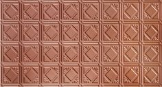 Global Specialty Products Pattern Tin Style Panel, 2 by Copper Faux Tin Ceiling Tiles, Tin Tiles, Solid Surface, Decorative Tile, Tile Patterns, Metallica, All The Colors, Copper, Diy Projects