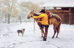 """THINGS COULD GET WORSE"" by  Tim Cox Fine Art---  ""Your present circumstances don't determine where you can go; they merely determine where you start.""~Nido Qubein~ It looks like this here today! ""THINGS COULD GET WORSE"" was never printed by Tim Cox Fine Art except in one of the very first calendars. It is an old favorite. http://www.TimCox.com/gallery1.html"