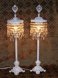 46 best tabletop chandeliers images on pinterest chandeliers vintage dcor tabletop chandelier lamps aloadofball Gallery