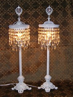 Vintage Chic ♥ Tabletop chandelier lamps