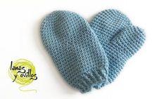 Patrones Crochet, Manualidades y Reciclado: MANOPLAS PARA BEBÉS PASO A PASO CON VÍDEO TUTORIAL...
