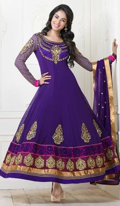 G3 Fashions Purple Georgette Party Wear Designer Salwar Suit  Product Code : G3-LSA105080 Price : INR RS 7654