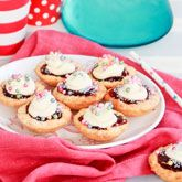 White Choc Coconut & Raspberry Tartlets - Coles Recipes & Cooking