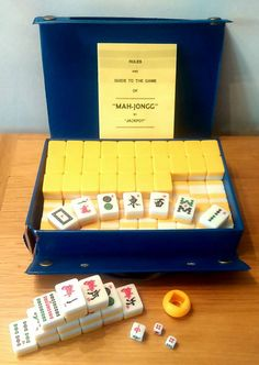 Check out this item in my Etsy shop https://www.etsy.com/uk/listing/242405405/vintage-mah-jong-mah-jongg-set-by-hpg-h