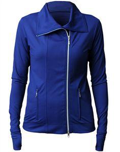 JoFit Lifestyle Jet Set Jacket Blue Depth   #Golf4Her #Spring #GolfClothes #Fitness #Tennis