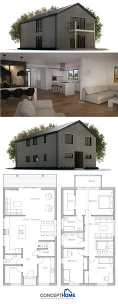 Very Narrow House Small private courtyard Floor Plan from