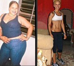 Weight loss before and after. Exercise, healty food, diet.