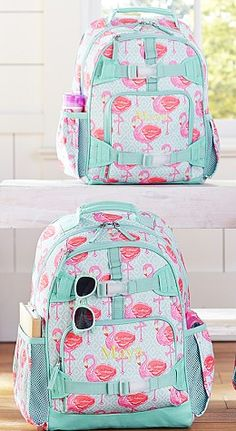 I love these flamingo print backpacks Flamingo ideas and inspiration Flamingo Art, Pink Flamingos, Pink Bird, Everything Pink, My Spirit Animal, Cute Bags, Girly Things, Pretty In Pink, Little Girls