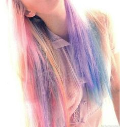 I'm looking for some sort of pastel hair dye, permanent or long lastingly temporary, not something that just washes out after one wash like hair chalk! Kool Aid Hair Dye, Pastel Rainbow Hair, Colorful Hair, Multicolored Hair, Rainbow Light, Color Fantasia, Cotton Candy Hair, Fall Hair Trends, Hair Chalk