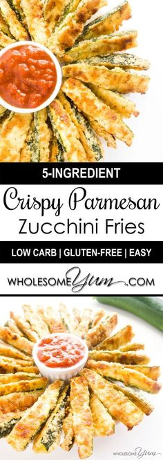 Gluten-Free Crispy Parmesan Zucchini Fries Recipe