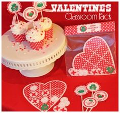 FREE Printable Valentine's Day Classroom Party Pack- love the tic tac toe.- Katy's Preschool 2013