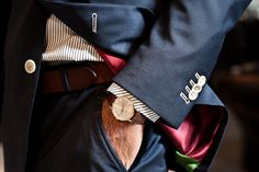 So much to love here // Patek Philippe, bold suit lining, great buttons and surgeon's sleeves!