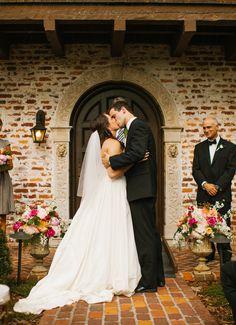 Photography : Shannon Lee Miller   Wedding Dress : Watters Read More on SMP: http://www.stylemepretty.com/florida-weddings/winter-park-fl/2014/10/15/romantic-winter-park-wedding-at-casa-feliz/