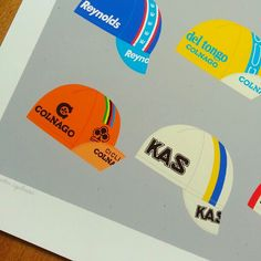 New print with some of our favourite cycling caps available from our shop www.gumogallery.com