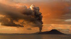 Morze, Wulkan, Dym, Wybuch