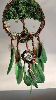Dream Catcher Craft, Dream Catcher Boho, Wood Crafts, Diy And Crafts, Arts And Crafts, Diy Craft Projects, Projects To Try, Nature Crafts, Nature Decor