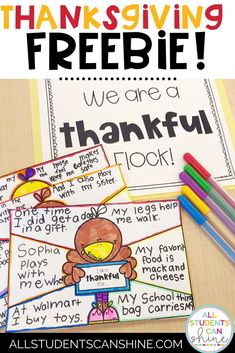 Freebie Alert! Thanksgiving Writing Activity for Primary Grades