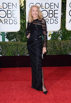 Jerry Hall au Golden Globes 2016