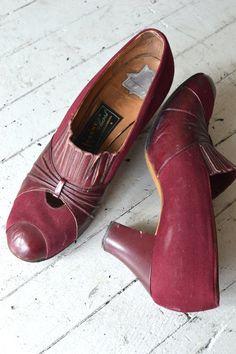 vintage 30s shoes / 1930s shoes / Au Courant heels