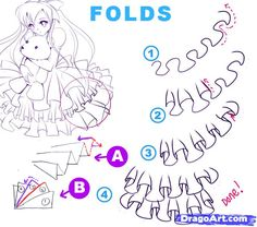 How to Draw Clothes | how to draw anime clothing folds image search results