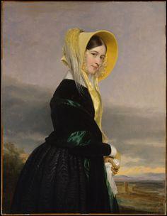 Jeune fille à la coiffe jaune