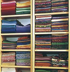 How to fold fabric for storage - All the same size
