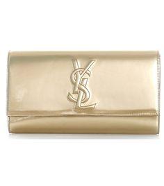 Leather Belle du Jour clutch by Yves Saint Laurent  #matchesfashion