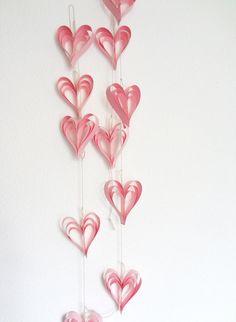 Valentine Decoration Pink Heart Garland