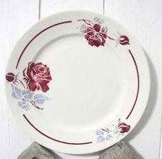 Ancienne assiette Badonvilliers Roseraie 1950