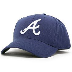 Atlanta Braves American Needle 1968-71 Road Cooperstown Fitted Hat - Navy