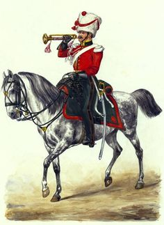 Trumpeter of the horse artillery 1812 . Fig. E. Grammont.