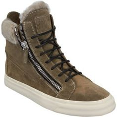 Givted- shearling trimmed high top #sneakers #shoes #winter