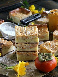 Persimmon Cheesecake Bars