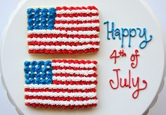 American Flag Cookies {Simple and Speedy!} by Munchkin Munchies. #patriotic