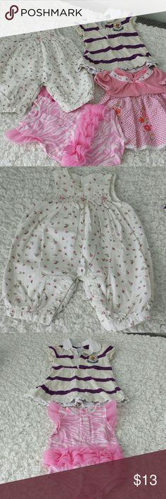 Baby Girl Clothes 3-6 Months Baby Girl 4 Piece Bundle In excellent to good condition  Size: 3-6 Months Brands: Ralph Lauren, The Children's Place Ralph Lauren Dresses