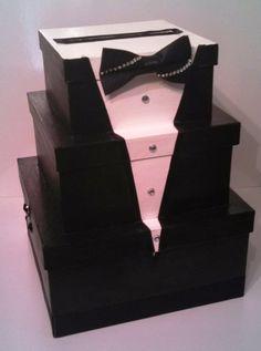 7b3765403 Tuxedo Card Box - Grooms Cake Alternnative