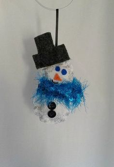 Snowman Ornament ... This is a cute handmade by ThisandThatCrafter