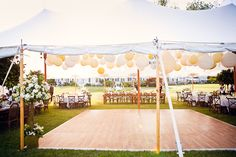 tent with paper lanterns
