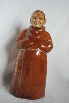 Vintage Novelty Friar Tuck Monk Decanter Liquor Bottle Stopper Cork Top 303 by SJMArtCollectables on Etsy