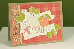 Whipping Up Scent-sational Cards Challenge - Simply Sweet Card by Erin Lincoln for Papertrey Ink (August 2013)