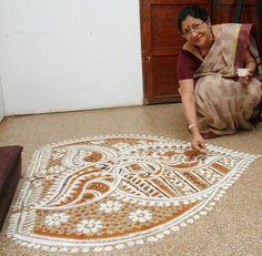 1000 images about bengali alpona on pinterest floor for Annaprasana decoration