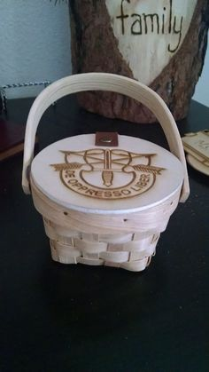 Received these donated small baskets and had them engraved by a spouse on Fort Carson.  With the regimental crest (costs about $5 each to engrave).  Shellac it to make sure it stays fresh.  Fill with candy and encouraging note.  Use for paperclips or little stuff later. See Kreative Designs & Engraving Facebook page.