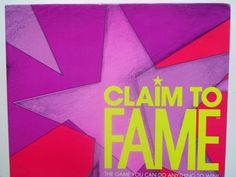 Vintage Claim To Fame Board Game 1990 by WylieOwlVintage on Etsy, $8.00